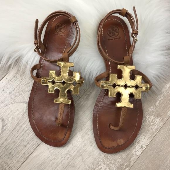 97aefb014c630 Tory Burch Chandler Flat Gladiator Sandals. M 5c787bd3d6dc520b3d15c6b1